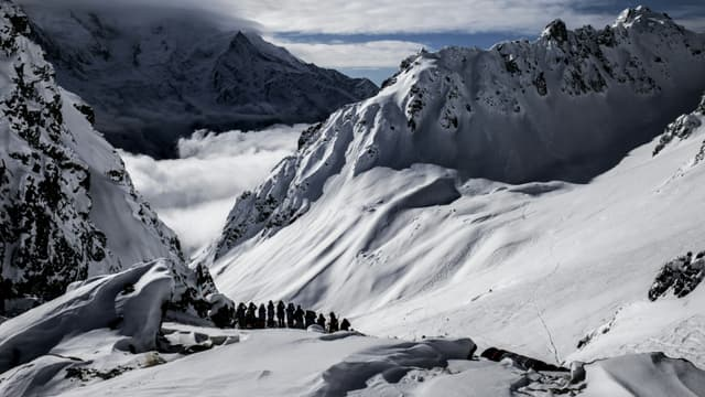 Les restes humains ont été retrouvés dans le glacier des Bossons, dans le massif du Mont-Blanc