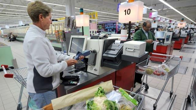 Une caisse automatique de supermarché à Rennes, en 2008 (photo d'illustration)