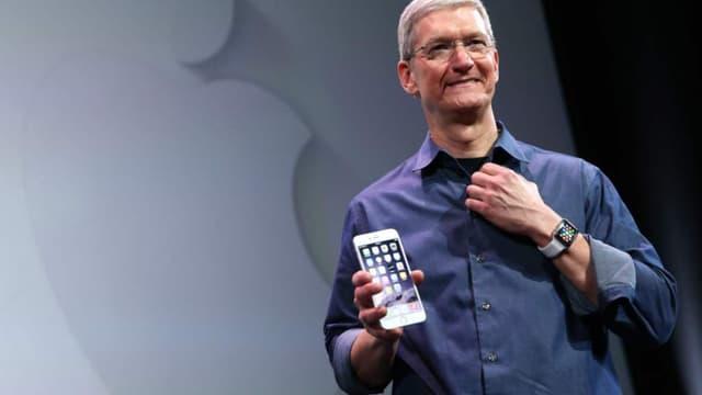 Tim Cook lors de la présentation des nouveaux produits Apple, mardi 9 septembre