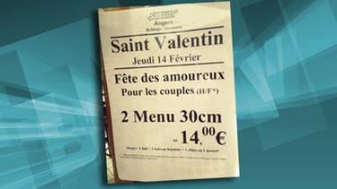 L'affiche discriminatoire du Subway du campus universitaire d'Angers.