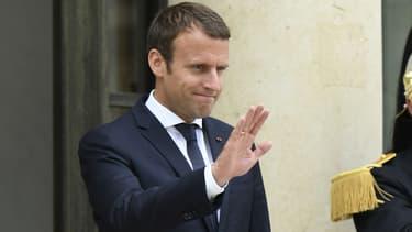 Emmanuel Macron le 28 juin 2017 à l'Élysée