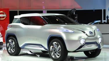 Le Nissan Terra FCEV, prototype de modèle zéro-émissions doté d'une pile à combustible, présenté en 2015.