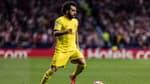 Mohamed Salah avec le maillot extérieur de Liverpool