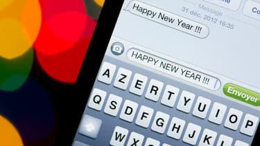 En France, le nombre de SMS échangés la nuit du Nouvel An est en baisse constante.