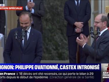 Passation de pouvoir: Édouard Philippe ovationné, Jean Castex intronisé