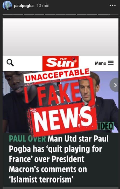 Pogba ne prend sa retraite internationale