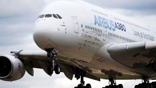 Un Airbus A380 lors du précédent salon de Farnborough, en 2012.