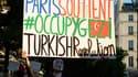 Paris a affiché son soutien aux manifestants turcs, lors d'un rassemblement organisé mardi soir.