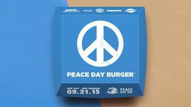"""Le nouveau """"burger de la paix"""" imaginé par la chaîne de fast food."""