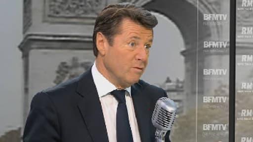 Le député-maire UMP Christian Estrosi sur le plateau de BFMTV, le 19 novembre 2013