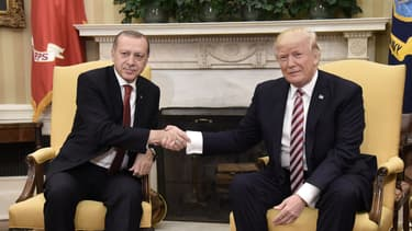 Recep Tayyip Erdogan et Donald Trump à la Maison blanche en 2017.