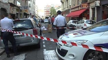Les lieux du braquage d'une bijouterie à Nice, le 11 septembre 2013.