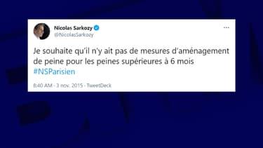 Tweet de Nicolas Sarkozy le 3 novembre 2015
