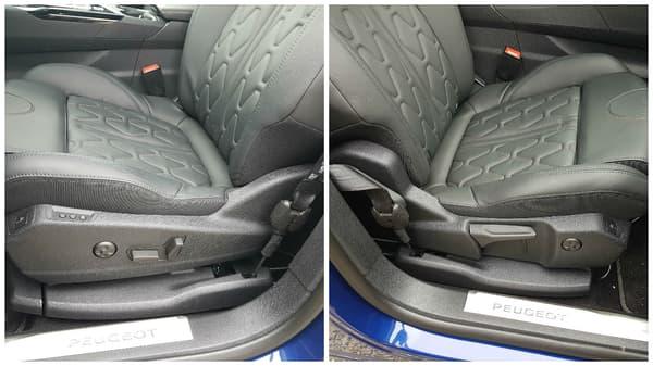 Si le conducteur a le droit à des réglages électriques de son siège, ce n'est pas le cas du passager avant. Il pourra tout de même se consoler avec un massage.