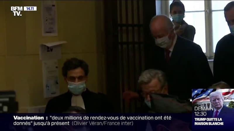 Affaire Karachi: Edouard Balladur arrive au palais de Justice de Paris