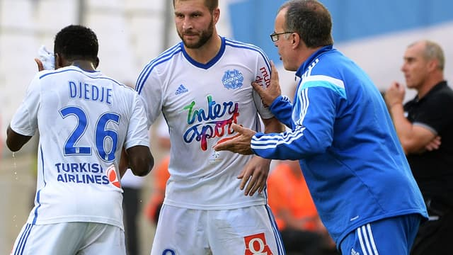 Brice Dja Djédjé, André-Pierre Gignac et Marcelo Bielsa