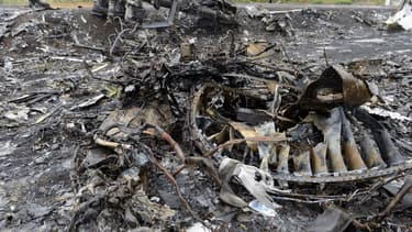 Les débris du MH17 en Ukraine, le 9 septembre 2014