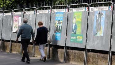 Image d'illustration - panneaux d'affichage officiels pour les élections européennes