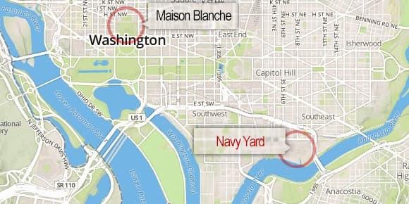Le Navy Yard est situé dans le centre de Washington, à 6km de la Maison Blanche.
