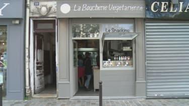 """Au """"Boucher végétarien"""" vient d'ouvrir ses portes place d'Aligre à PAris."""