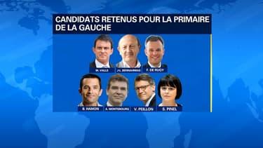 Les candidats de la primaire de la gauche