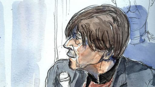 Croquis d'audience représentant Jorge Montes, réalisé le 18 novembre 2008 au tribunal correctionnel de Paris.