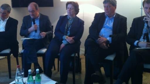 Patrick Bloche, Pierre Lescure, Francine Mariani-Ducray, Pascal Rogard et Rodolphe Belmer à Cannes