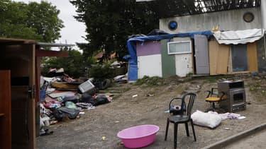 Une partie du camp où vivait le jeune adolescent lynché à Pierrefitte la semaine dernière.