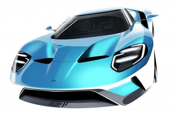 Le design de la Ford GT est à la hauteur de son moteur : musclé.