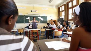 Des élèves de Terminale dans un lycée en Martinique (illustration)