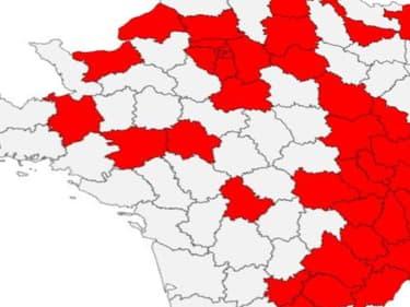 Les 38 nouveaux départements concernés par le couvre-feu à partir de samedi.