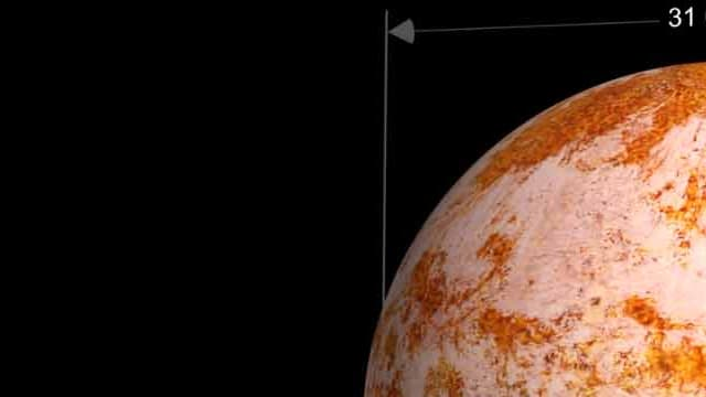 La Terre. Plus grande que sa sulfureuse sœur Vénus, mais plus petite que l'une des plus grandes exoplanètes connues, Kepler 10c.