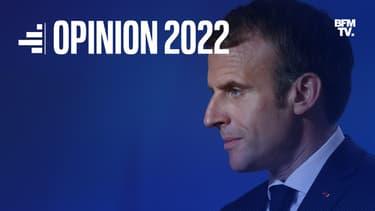 Emmanuel Macron lors d'une conférence de presse à Bruxelles (Belgique), le 22 octobre 2021.