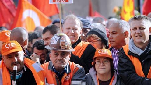 Des salariés du site ArcelorMittal à Florange.