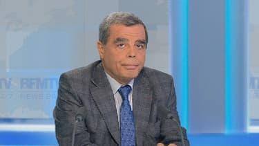 Le professeur Marc Zerbib, qui a opéré François Hollande en février 2011, ce mercredi soir sur le plateau de BFMTV.