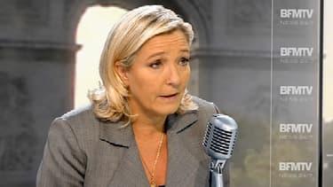 Marine Le Pen était l'invitée de BFMTV et RMC, ce 22 septembre.