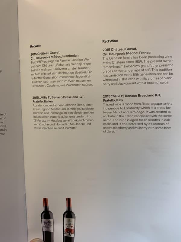 Les vins français bien présents sur les cartes de Lufthansa