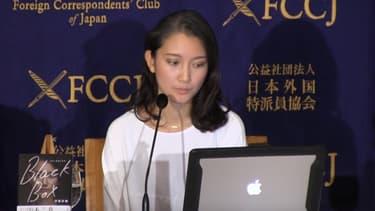 Shiori Ito a raconté son calvaire, lors d'une conférence de presse en octobre dernier.
