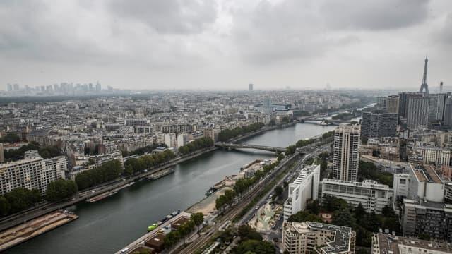 Vue aérienne de la Seine