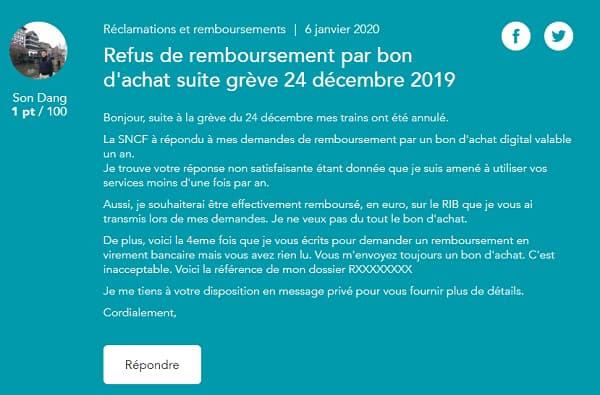 Bon d'achat SNCF