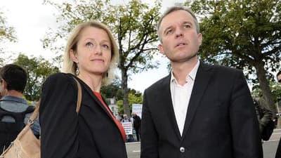 Barbara Pompili et François de Rugy, co-présidents du groupe EELV à l'Assemblée nationale.