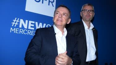 Alain Weill, fondateur de NextRadioTV et Michel Combes, président de SFR.