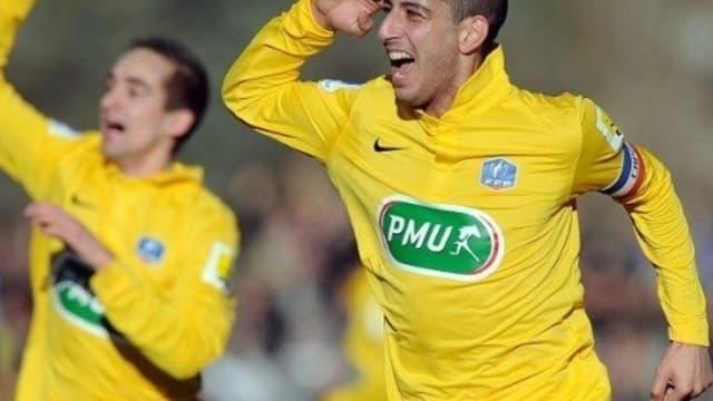 La joie des joueurs de Mende après leur succès sur Arles-Avignon en 32e de finale