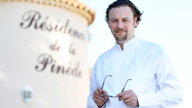 Arnaud Donckele en avril 2013 à Saint-Tropez.