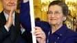 Simone Veil, aux côtés de Jacques Chirac, avec son épée d'académicienne. Femme politique populaire et humaniste, rescapée de la Shoah devenue ministre, présidente du Parlement européen et membre du Conseil constitutionnel, l'ancienne ministre de la Santé
