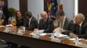 Ségolène Royal, Jean-Pierre Jouyet, Pierre Moscovici et Arnaud Montebourg ont pris part au premier conseil d'administration de la BPI.