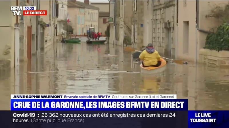 Inondations: la commune de Couthures-sur-Garonne complètement encerclée par les eaux
