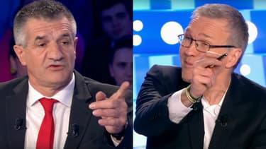 """Jean Lassalle face à Laurent Ruquier dans """"On n'est pas couché"""", le 1er avril 2017"""
