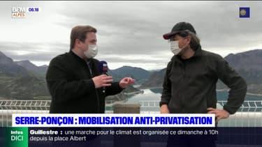 Serre-Ponçon: José Puki, coordinateur de la manifestation contre la privatisation du barrage, est l'invité de BFM DICI
