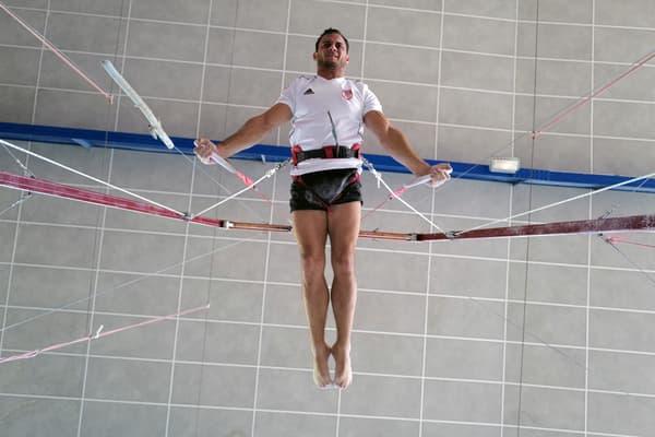 Samir Aït Saïd à l'entraînement à Antibes en juin 2021